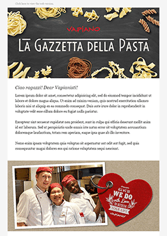 food newsletter template example