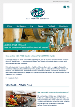 food and drink newsletter example template