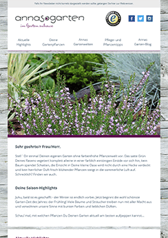 botanical newsletter template