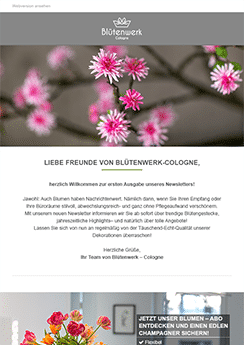 flowers newsletter template
