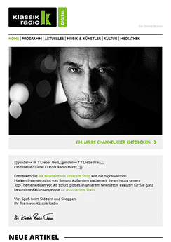 email newsletter template example