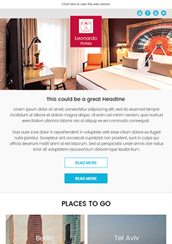 newsletter template hotel industry