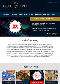 email newsletter custom template