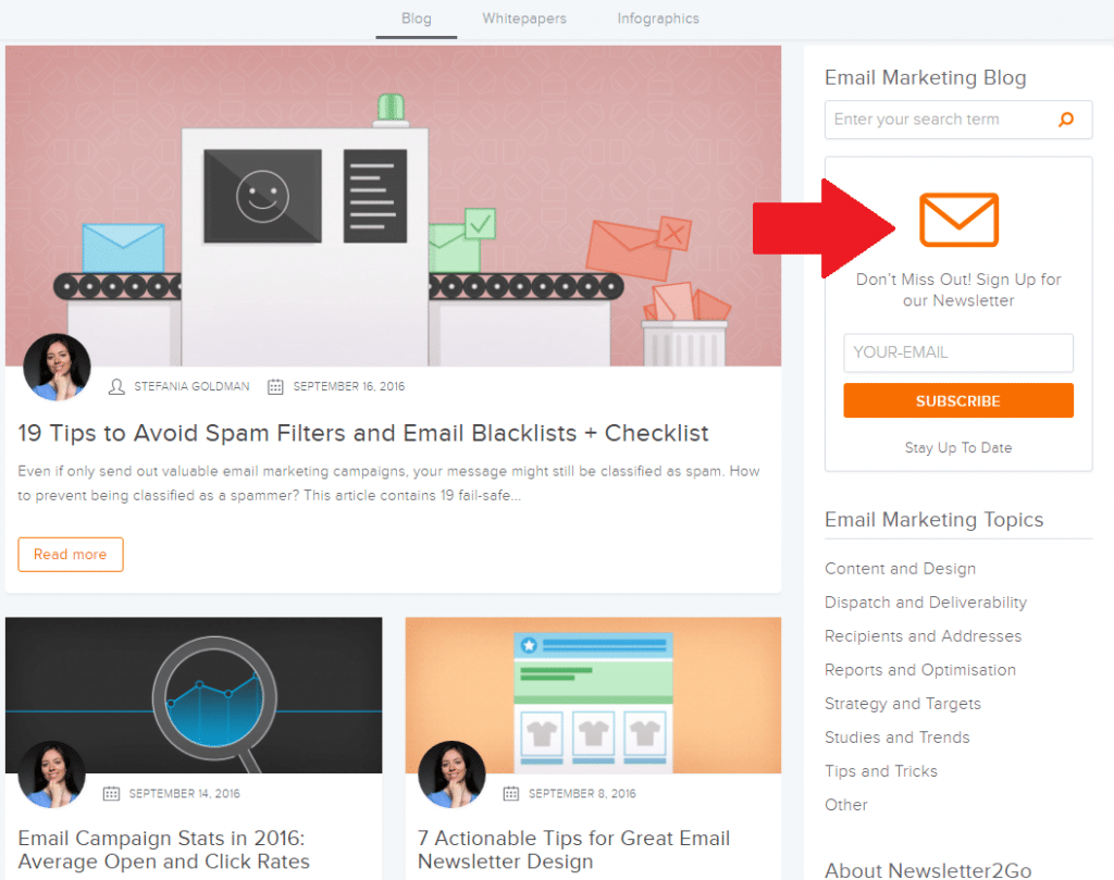 email list building strategies newsletter2go