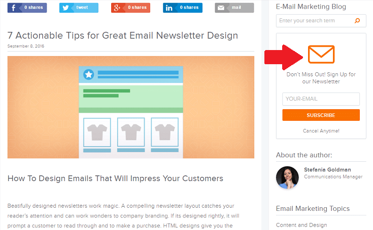 how to build an email list via your blog