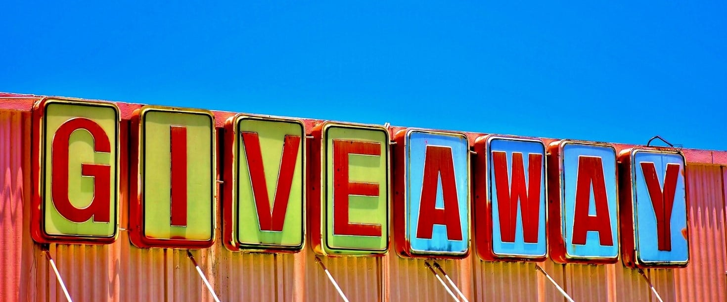 Sign spelling out Giveaway