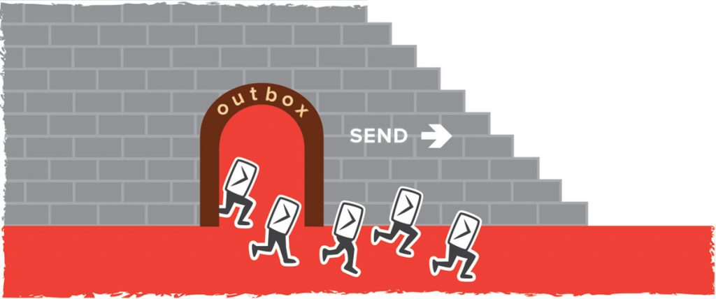 Cartoonish emails run out of the outbox